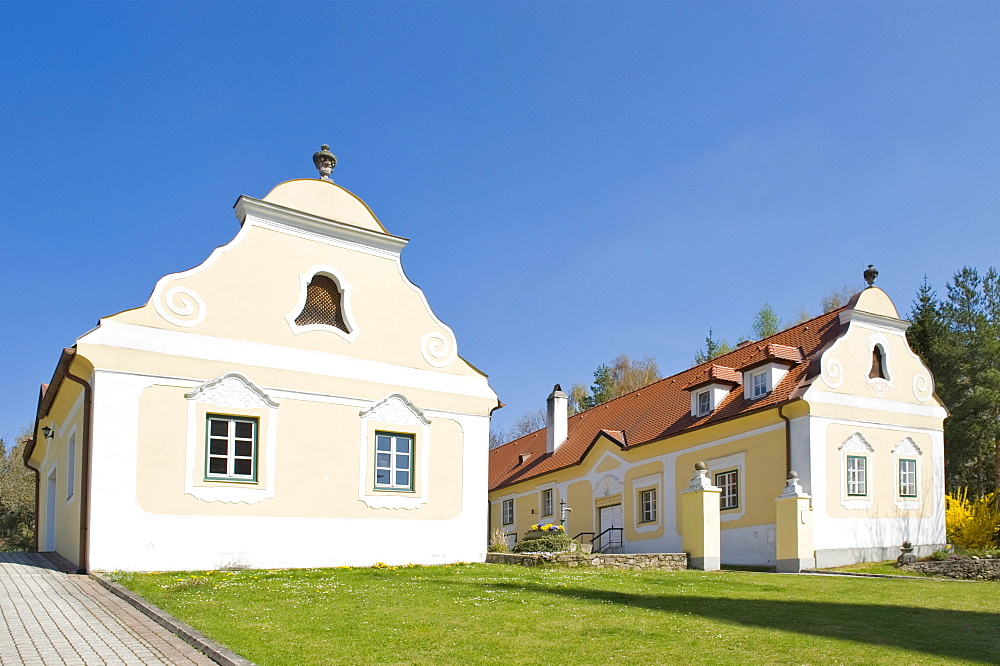 Old vicarage in a Rococo style, Krumbach, Bucklige Welt, Lower Austria, Austria, Europe