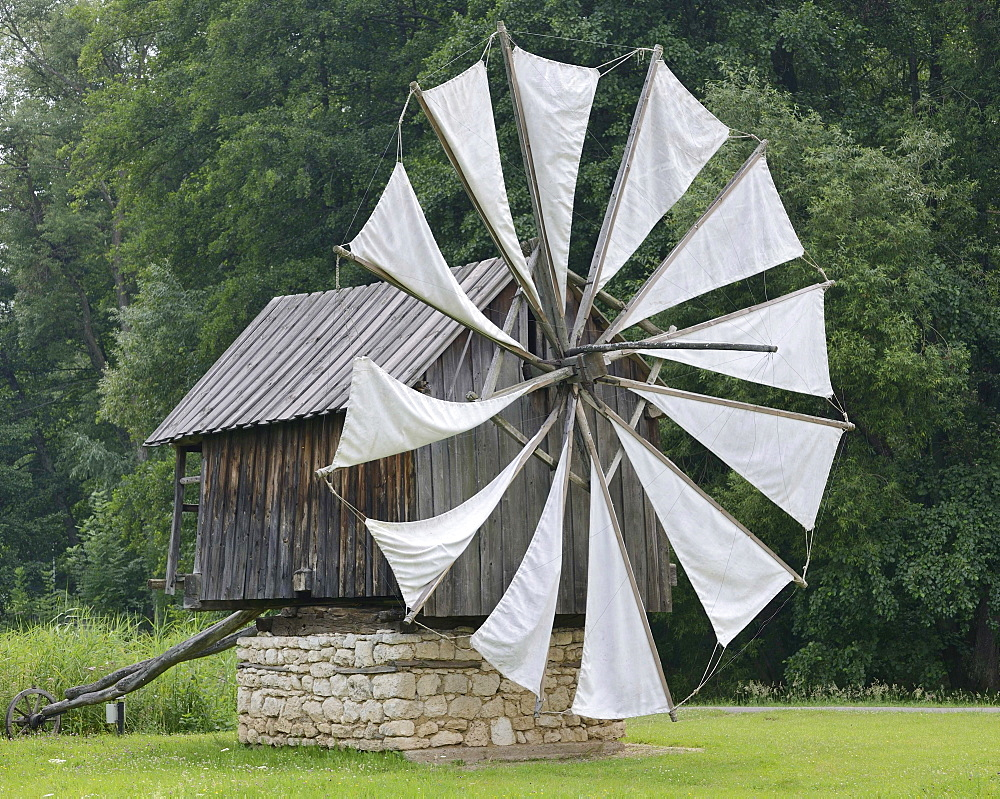 Windmill from the Constanta region, Astra open-air museum, Sibiu, Romania, Europe - 832-109735