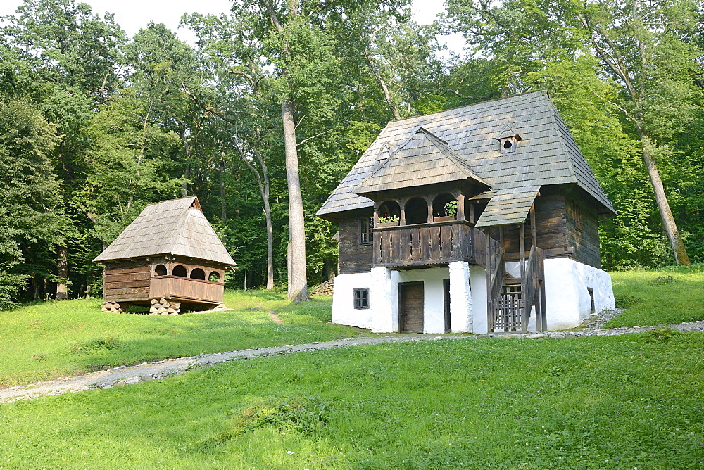 House of a winegrower, Astra open-air museum, Sibiu, Romania, Europe