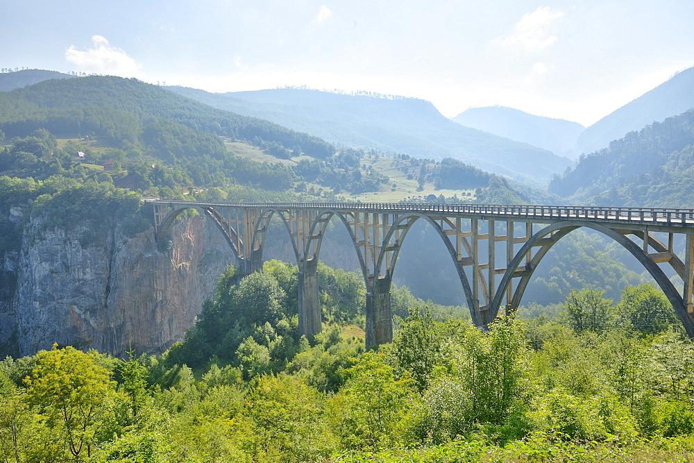 Bridge over Tara Canyon, Montenegro, Europe