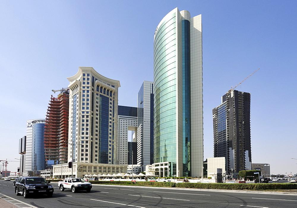 Headquarters of the National Olympic Committee of Qatar, Doha, Qatar, Arabian Peninsula, Persian Gulf, Middle East, Asia