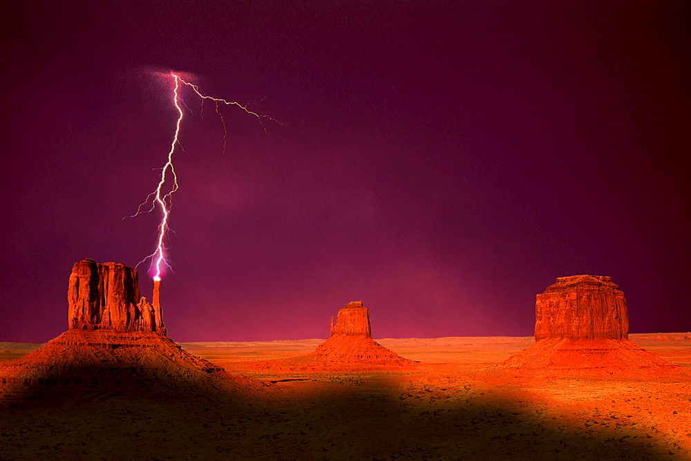 Thunder and Lightning in Monument Valley, Arizona, USA