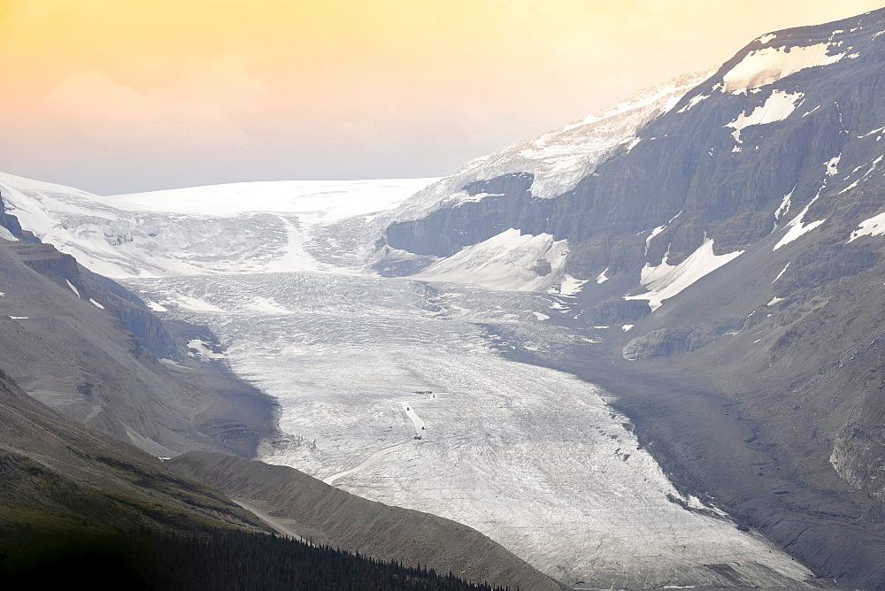 Evening at the Athabasca Glacier, Columbia Icefield, Icefields Parkway, Jasper National Park, Canadian Rockies, Alberta, Canada