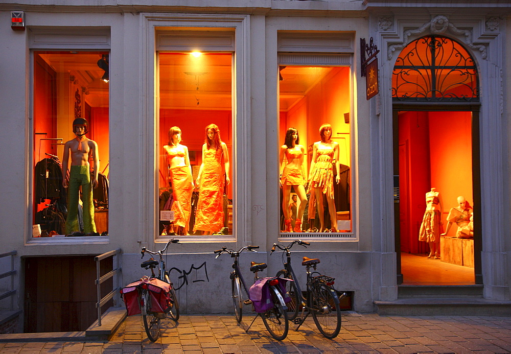 Boutique in the old town, Ghent, East Flanders, Belgium, Europe