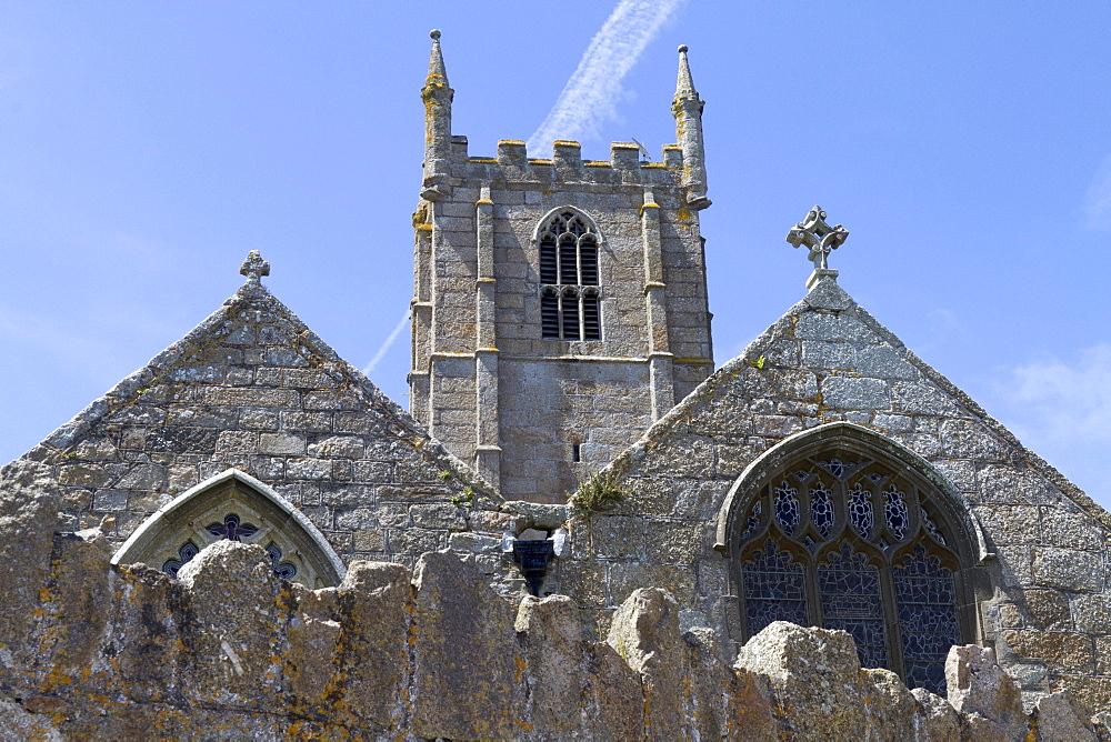 St. Ia parish church, St. Ives, Cornwall, England, Great Britain, Europe