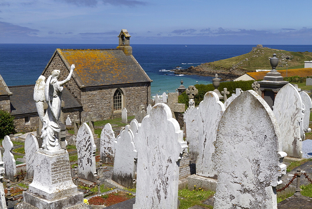 Old cemetery, St. Ives, Cornwall, England, Great Britain, Europe