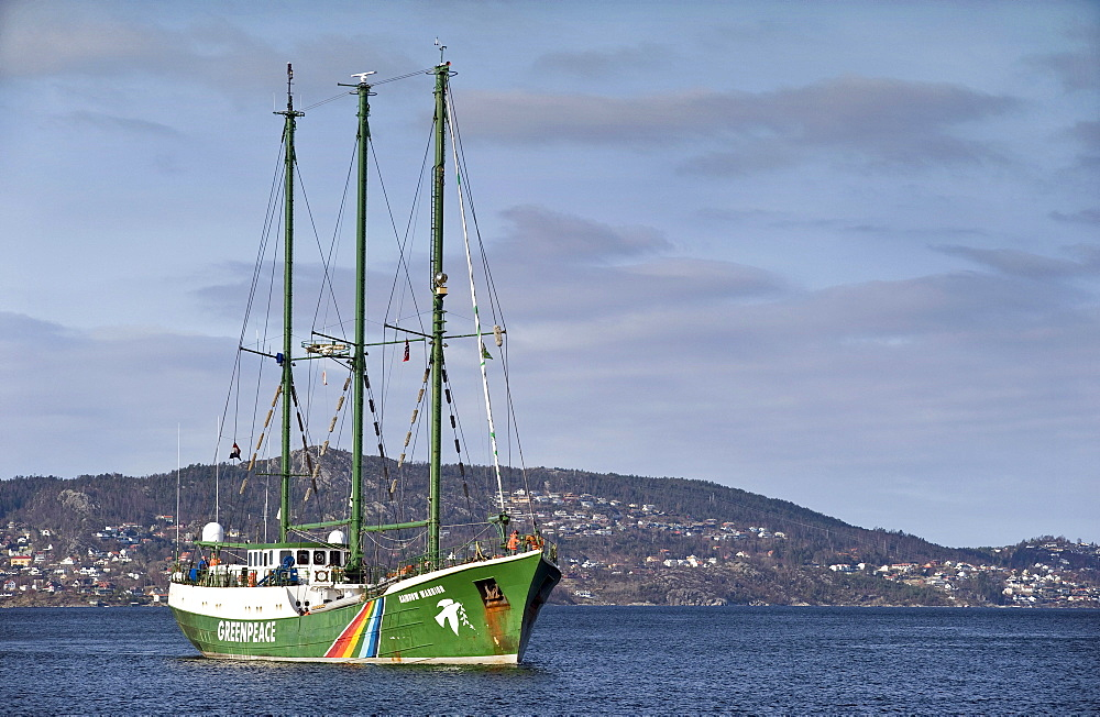 The Greenpeace ship Rainbow Warrior II, Bergen, Norway, Europe - 832-111085
