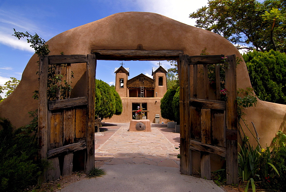 Santuario of Chimayo church, Santa Fe, New Mexico, USA