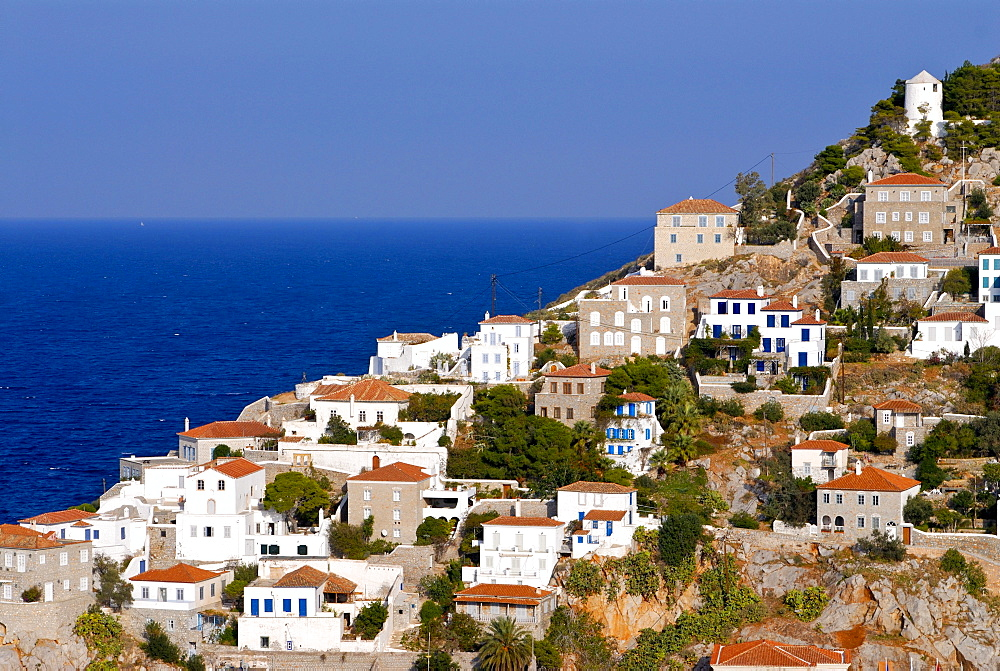 View of the town Hydra, Hydra island, Greece, Europe