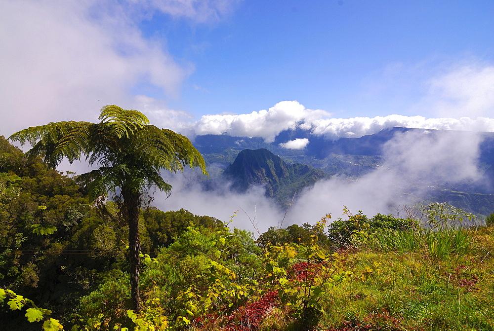 Volcano crater Cirque de Salazie, La Reunion, Indian Ocean