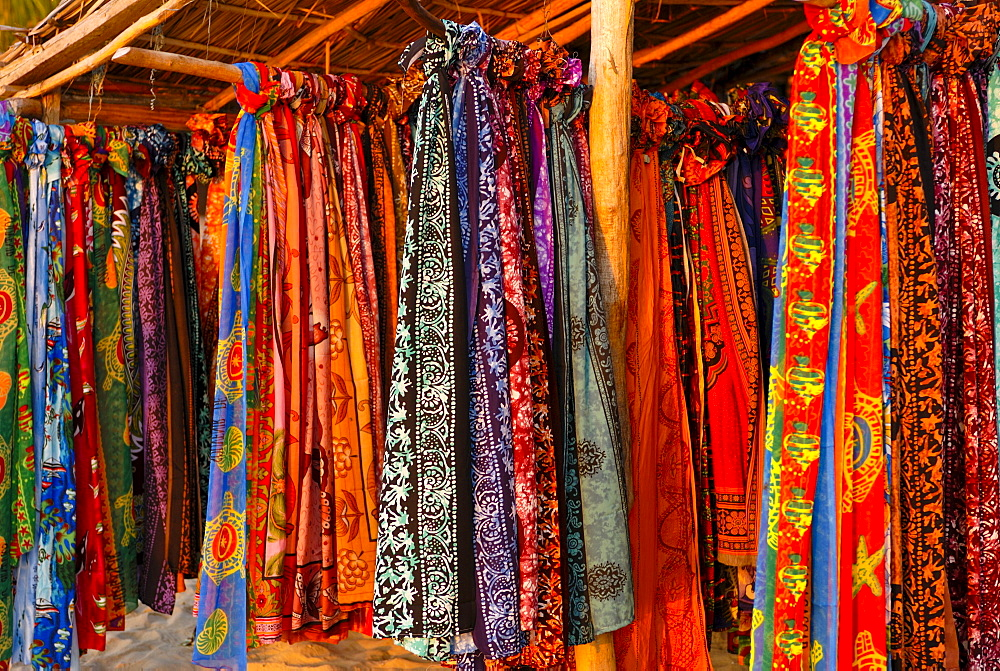 Colorful sarongs in Ifaty, Madagascar, Africa