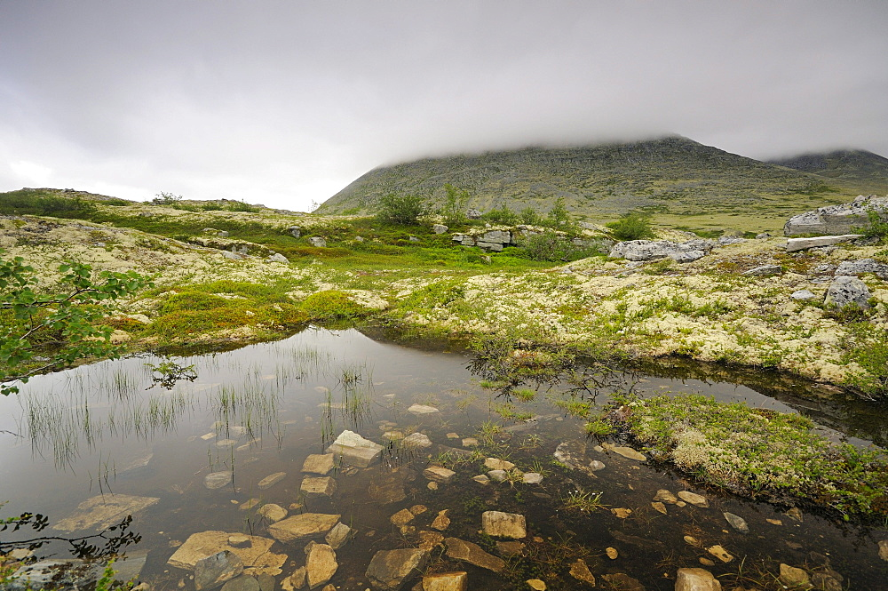 Fjell landscape near Bjornhollia in the Rondane National Park, Norway, Scandinavia, Europe