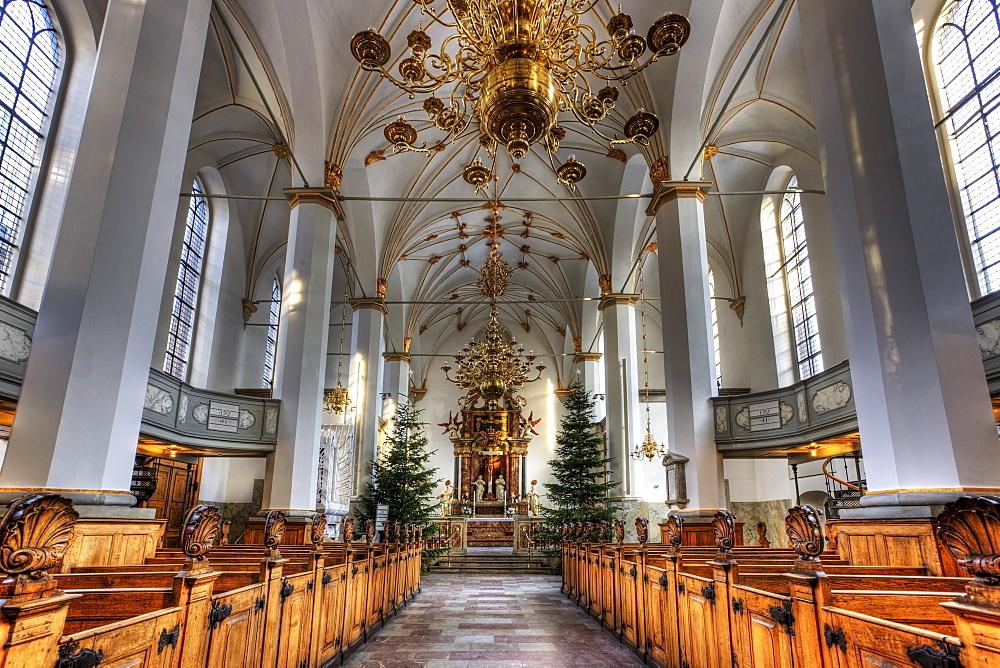 Church of Trinitatis, interior, Copenhagen, Denmark, Europe