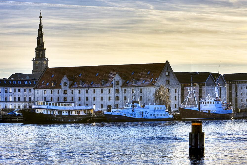 Houseboats in the harbour, Copenhagen, Denmark, Europe