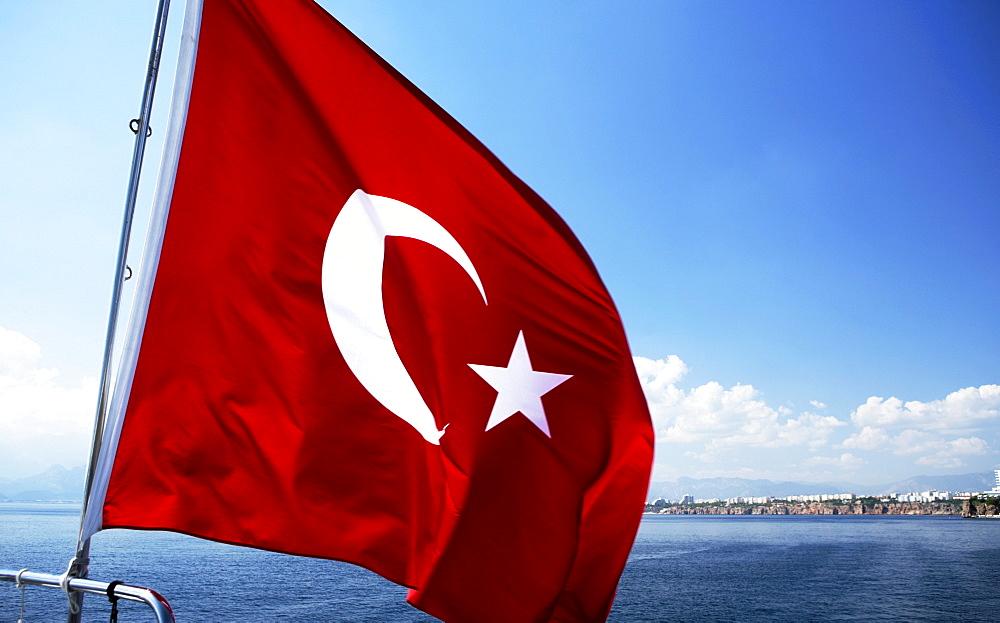Turkish flag, Antalya, Turkey