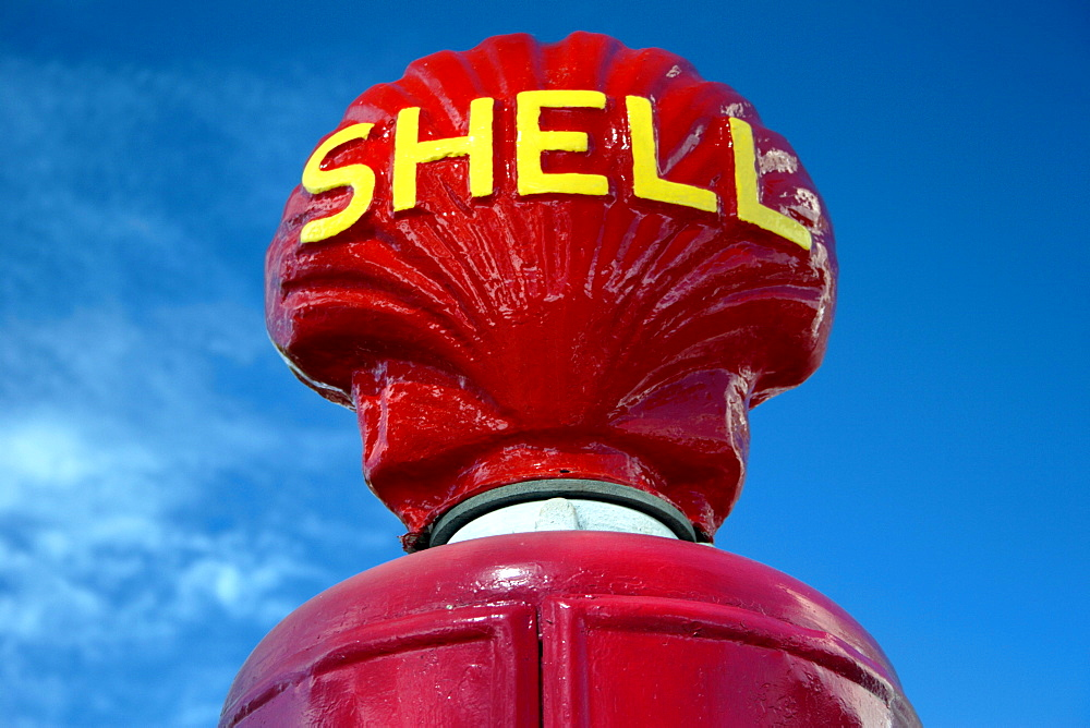 Old Shell oil petrol gasoline pump