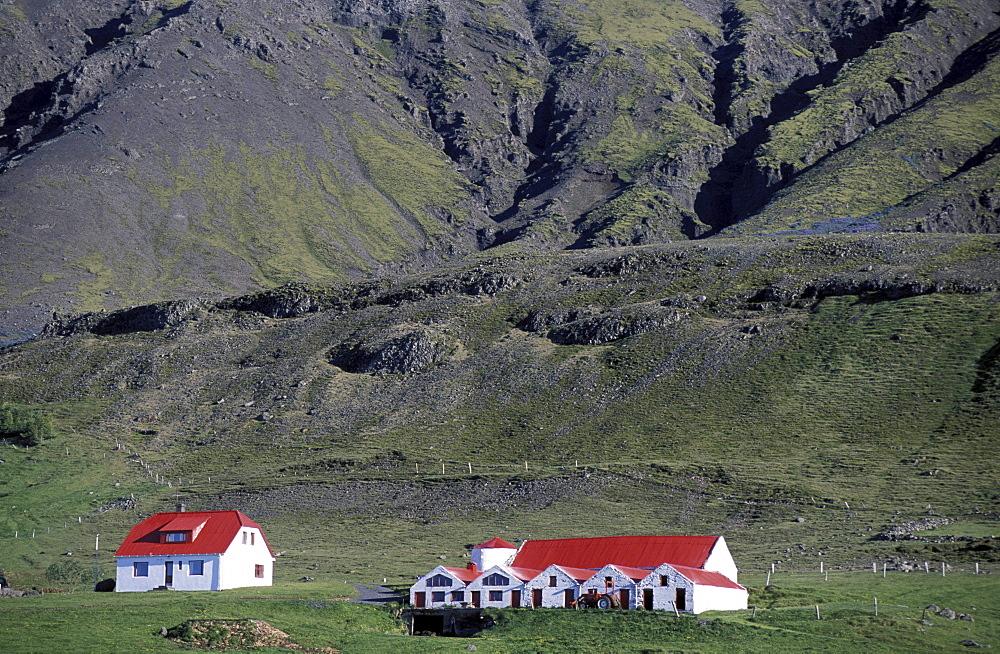 Hnappavellir, a farm in South Iceland, Iceland, Europe