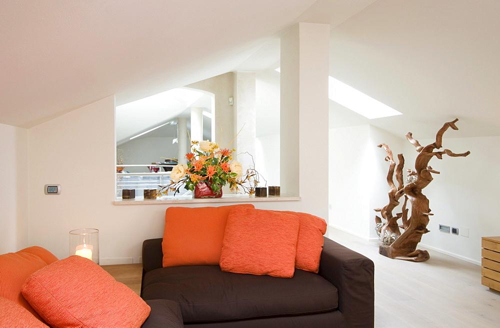 Modern home interior, living room