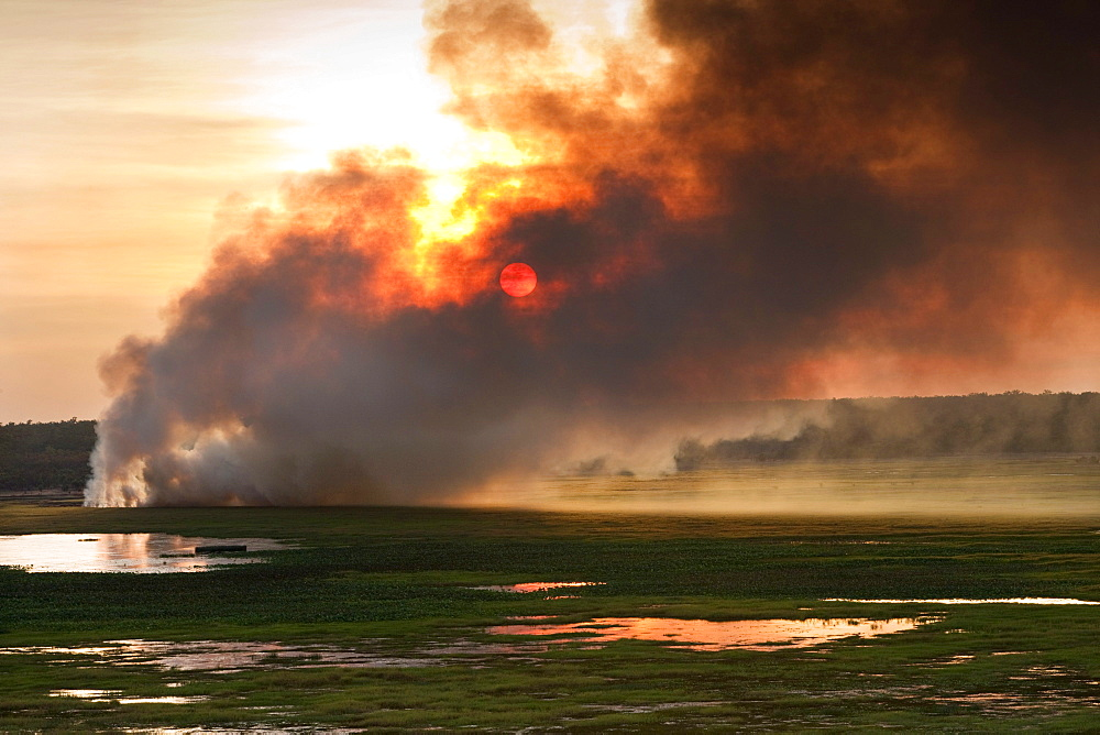 Bushfires in Kakadu National Park, Northern Territory, Australia