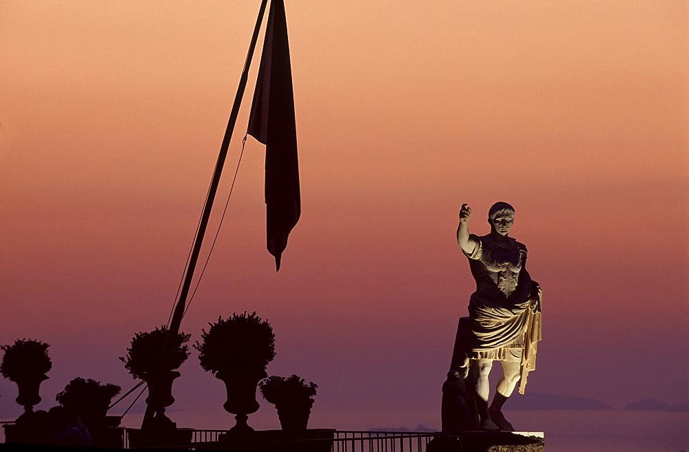 Statue of Augustus, Hotel Caesar Augustus in Anacapri, Capri, Italy, Europe