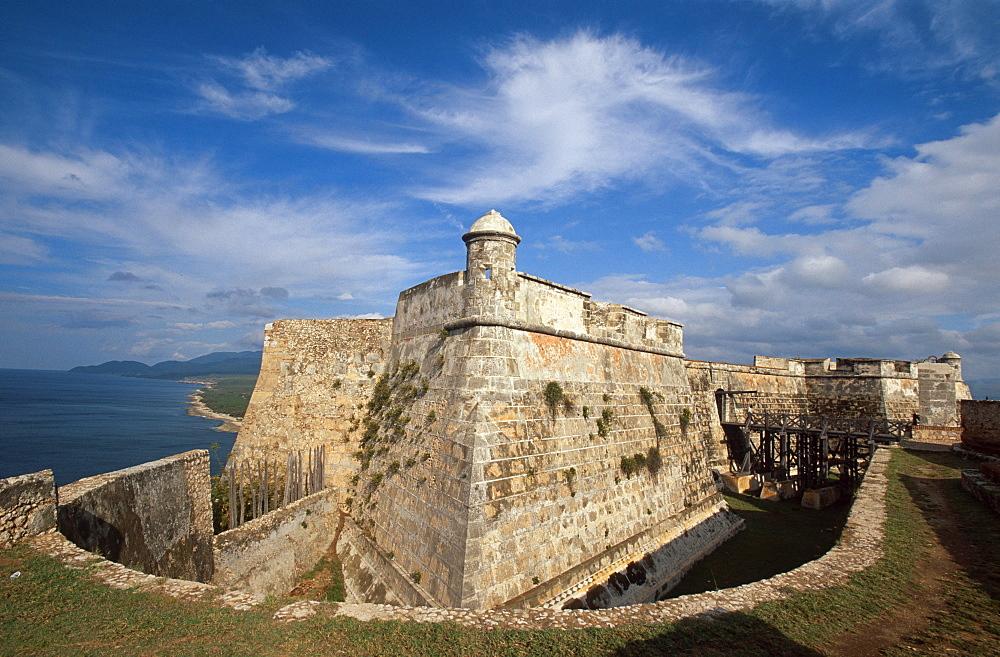 Castillo El Morro fortress, San Pedro de la Roca, Unesco World Heritage Site, Santiago de Cuba, Cuba, Caribbean