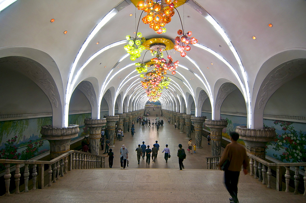 The subway in Pyongyang, North Korea, Asia