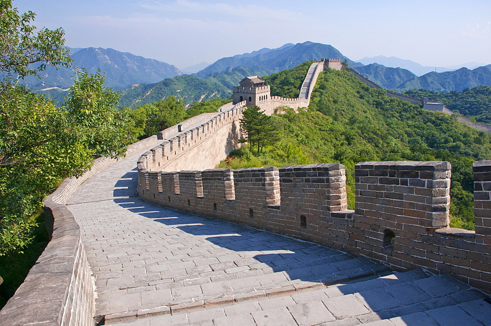 The Great Wall of China at Badaling, China, Asia