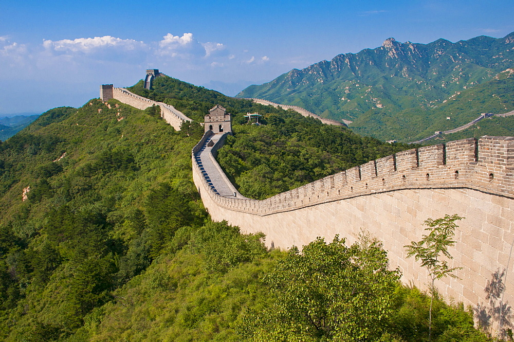 Great Wall of China at Badaling, China, Asia
