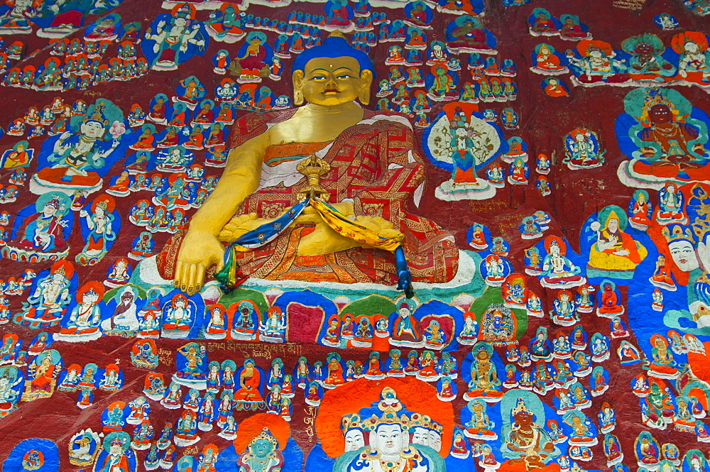 The Blue Buddha in Lhasa, Tibet, Asia
