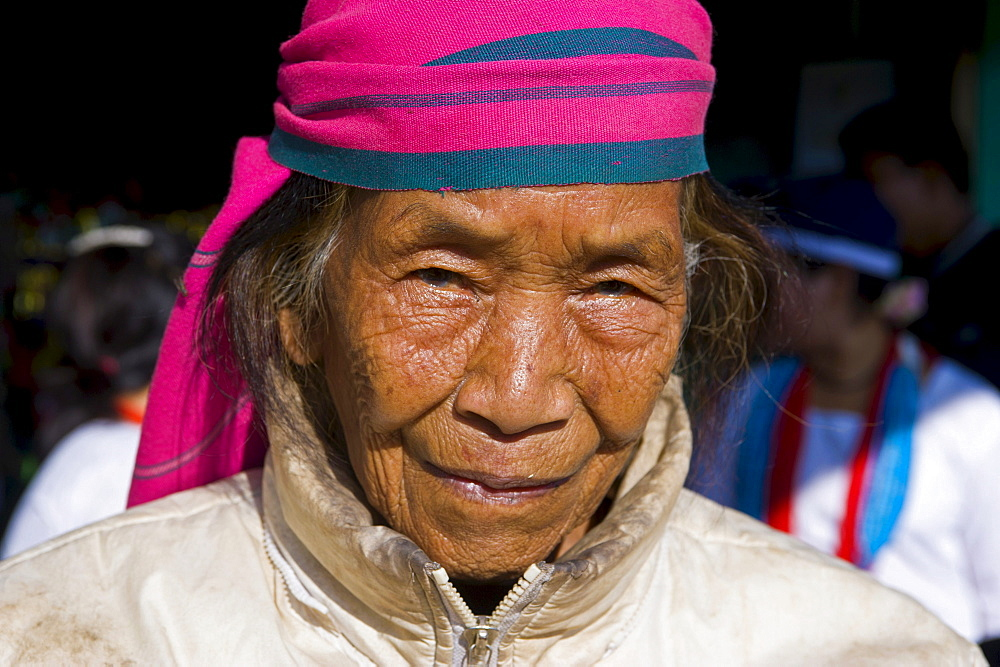 Traditionally dressed woman from the Hillmiri ethnic group near Daporijo, Arunachal Pradesh, North East India, India, Asia