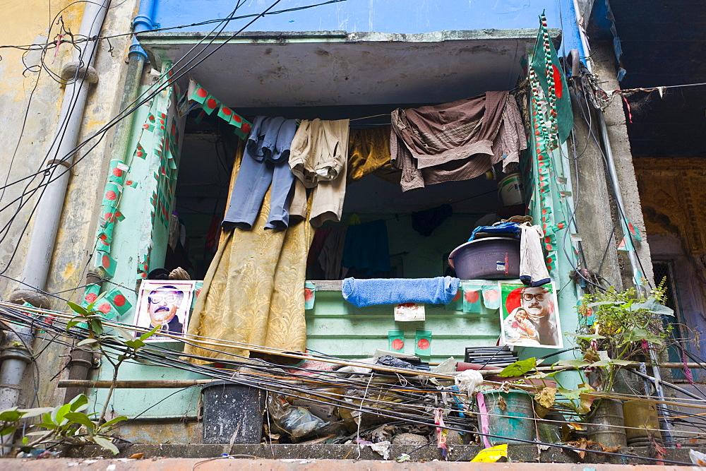 Small window in the center of Dhaka, Bangladesh, Asia