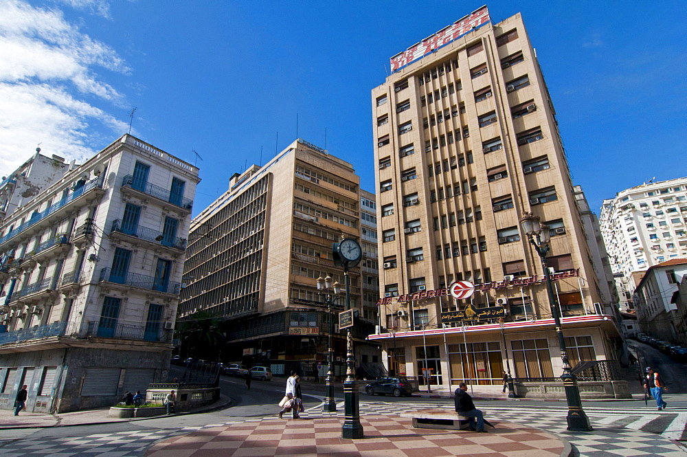 The modern center of Algiers, Algeria, Africa