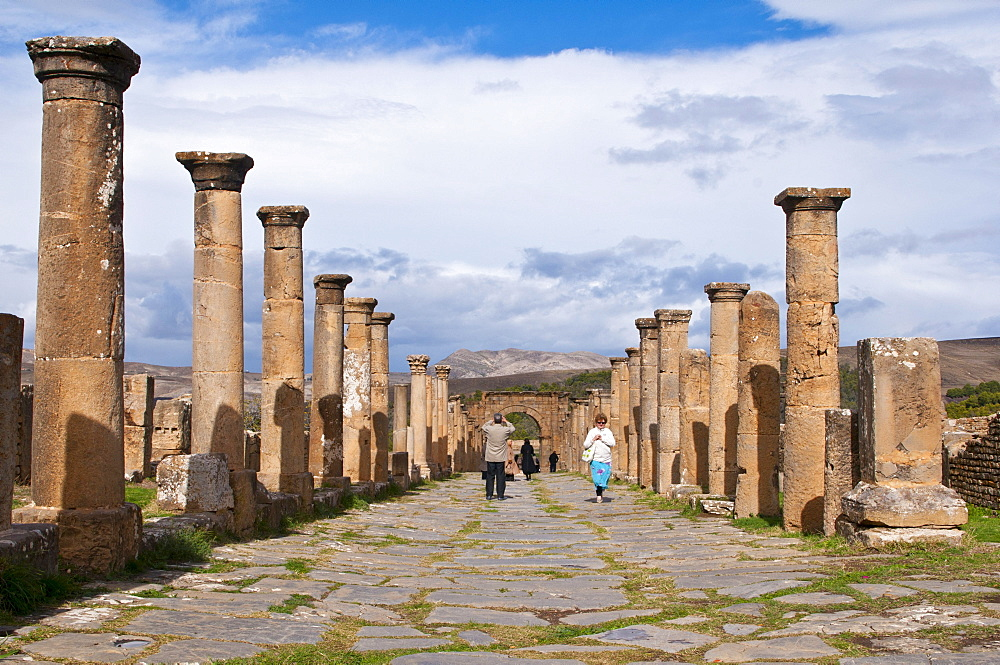 The Roman ruins of Djemila, Unesco World Heritage Site, Kabylie, Algeria, Africa