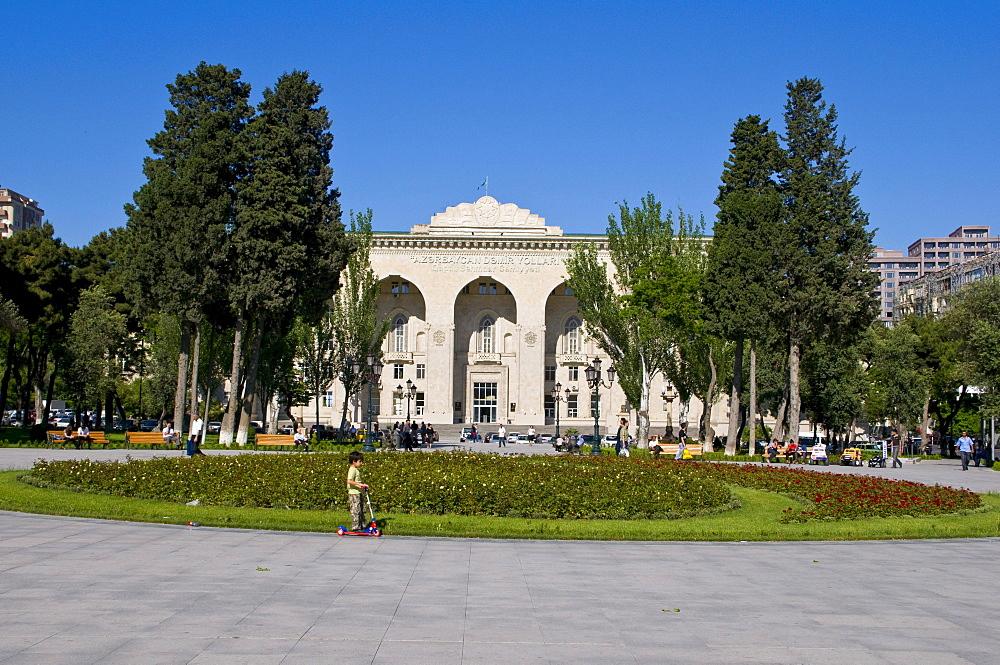 Palace in Baku, Azerbaijan, Caucasus, Middle East