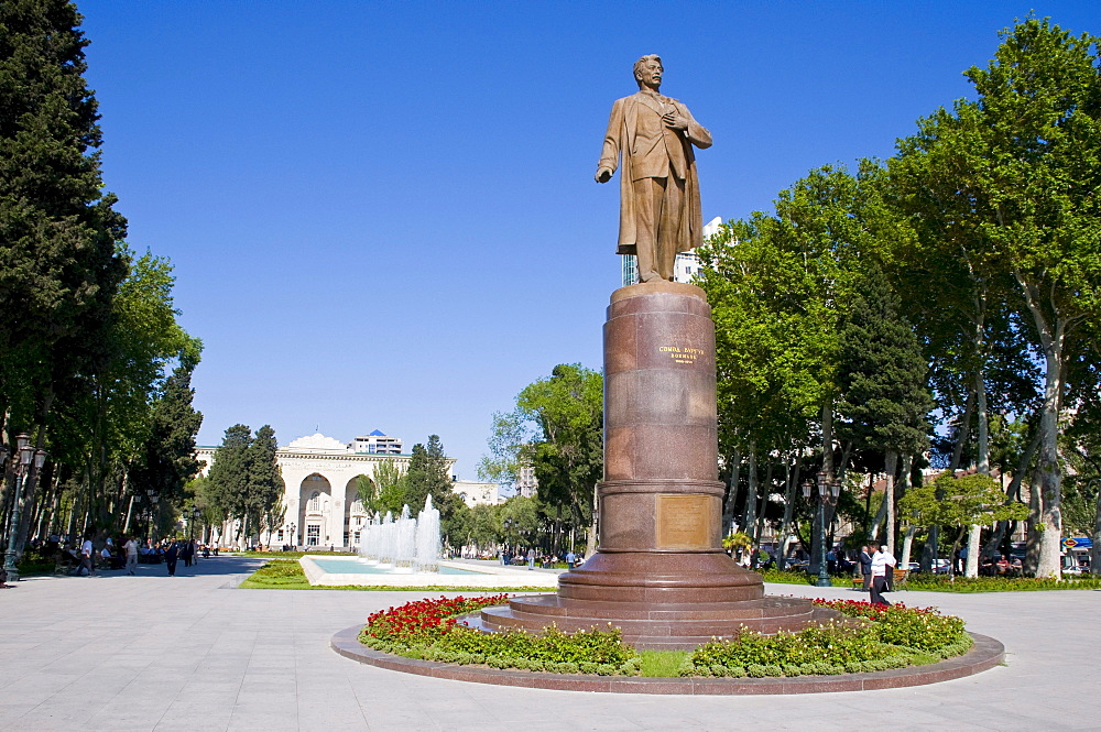 Statue in Baku, Azerbaijan, Caucasus, Middle East