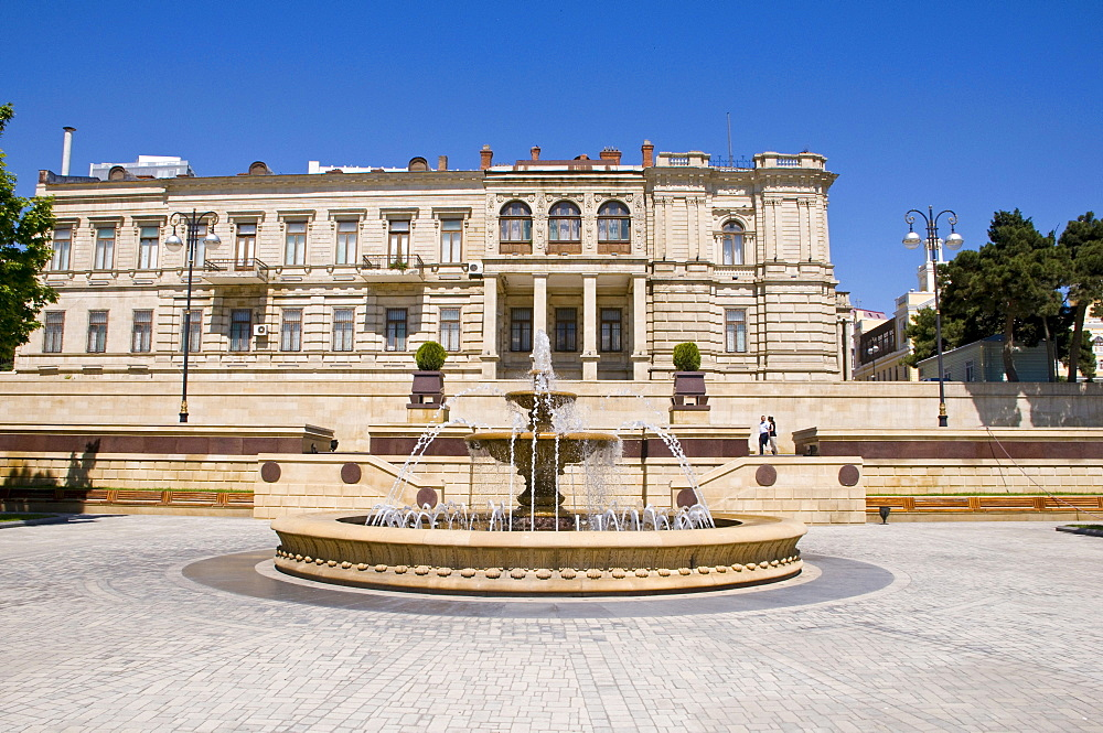 Fountain Square, Baku, Azerbaijan, Caucasus, Middle East