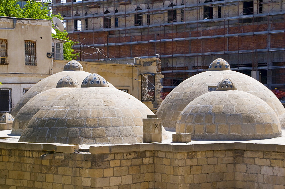 Roof of an old steam bath, Hammam, Baku, Azerbaijan, Caucasus, Middle East