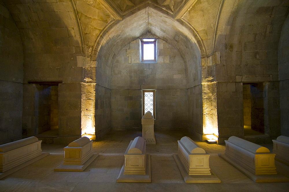 Interior view of the Palace of the Shirvanshahs, Shirvan Shahs, Baku, Azerbaijan, Middle East