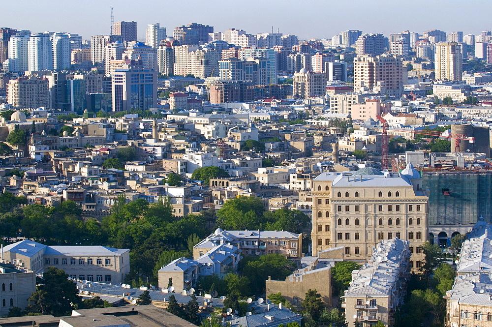 View over Baku, Azerbaijan, Middle East