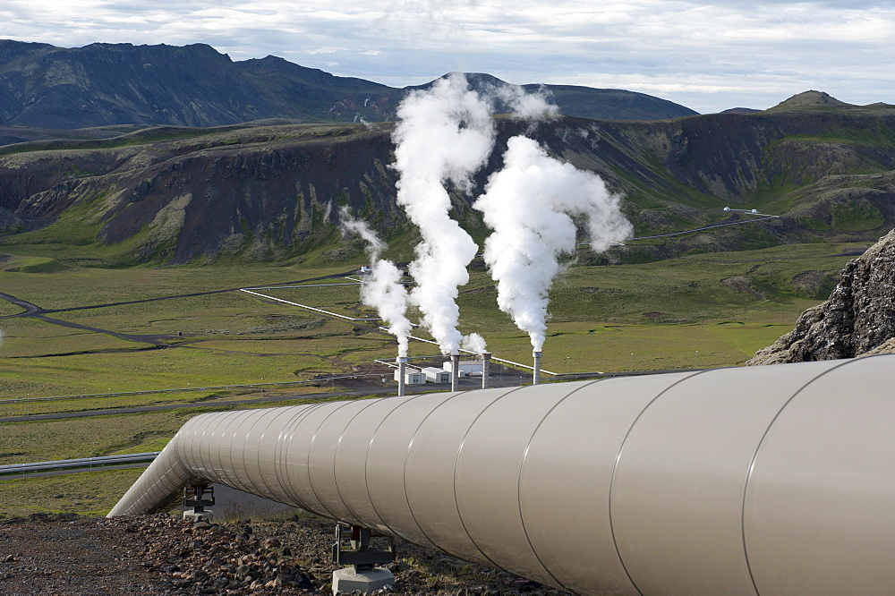 Geothermal power plant, Nesjavellir power plant, Hengill region, Iceland, Scandinavia, Northern Europe, Europe - 832-116173