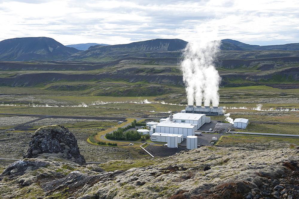 Geothermal power plant, Nesjavellir power plant, Hengill region, Iceland, Scandinavia, Northern Europe, Europe - 832-116174