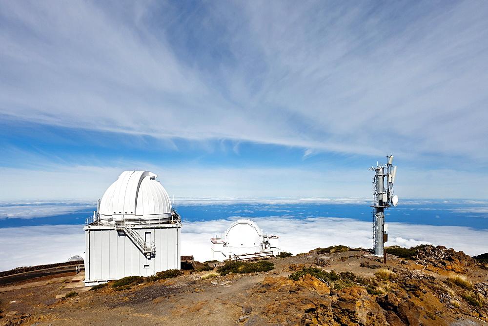 Observatory, Roque de los Muchachos mound, Caldera de Taburiente, La Palma island, Canary Islands, Spain, Europe