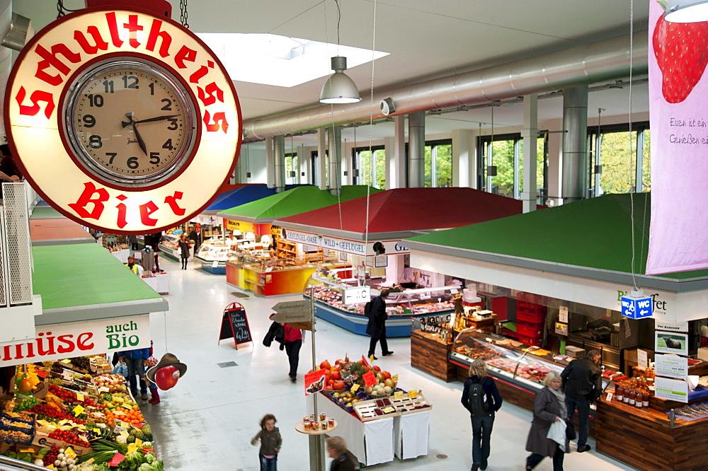 Marheineke market hall in Kreuzberg, Berlin, Germany, Europe