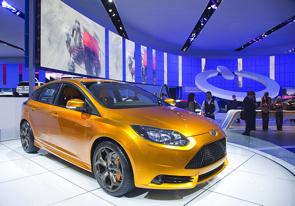 The Ford Focus ST on display at the North American International Auto Show, Detroit, Michigan, USA
