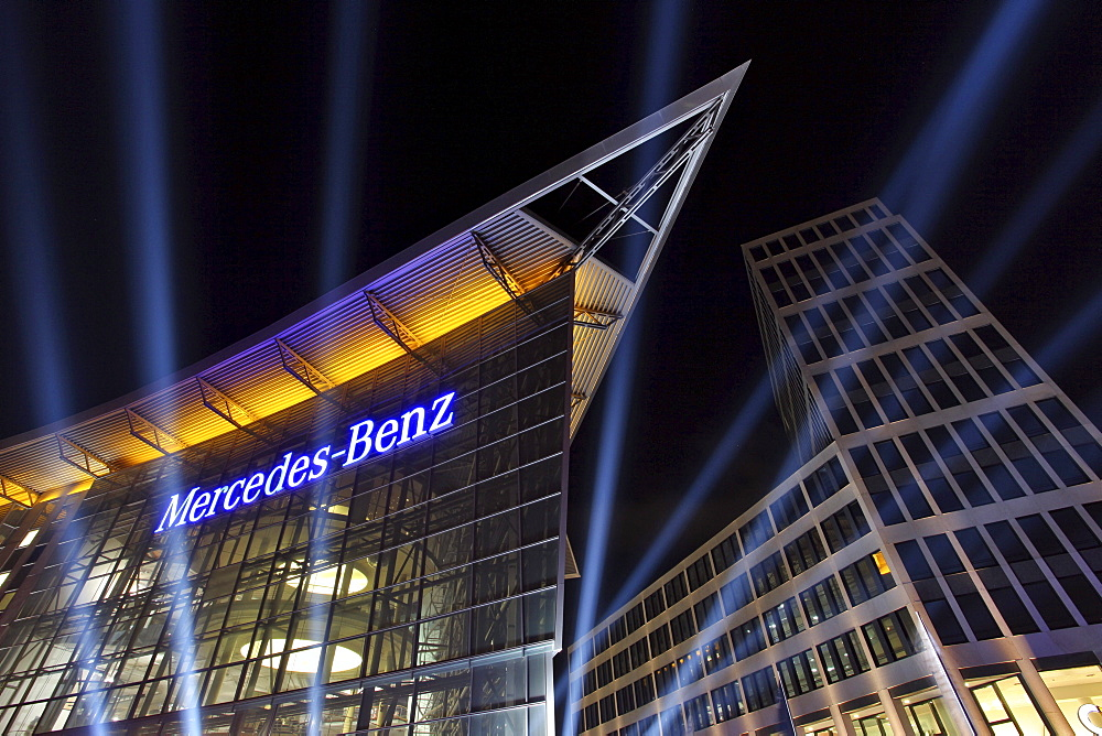 Mercedes Benz branch on Salzufer, Festival of Lights 2010, Berlin, Germany, Europe