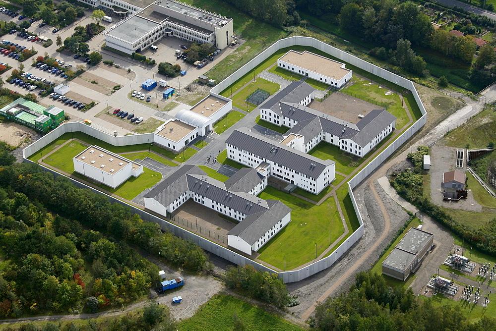Aerial view, Forensik Wanne-Eickel forensic hospital, Herne, Ruhr area, North Rhine-Westphalia, Germany, Europe