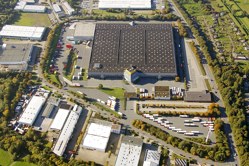 Aerial view, NettoMarkt logistics center, Bottrop, Ruhr Area, North Rhine-Westphalia, Germany, Europe
