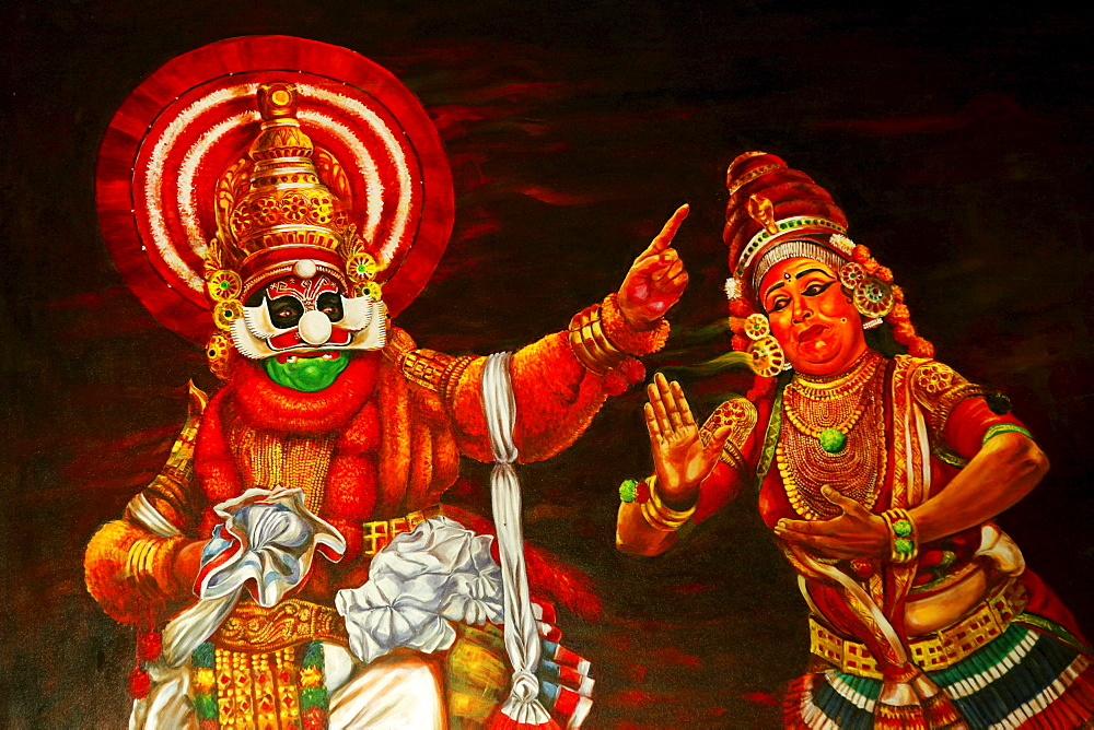 dance and drama at the kerala kathakali Kathakali is usually presented in the temple precincts after dusk singers vocalize the script while the players act out the play with their gestures (mudras and mughabhinaya) the riches of a happy blending of colour, expressions, music, drama and dance are unparalleled in any other art form.