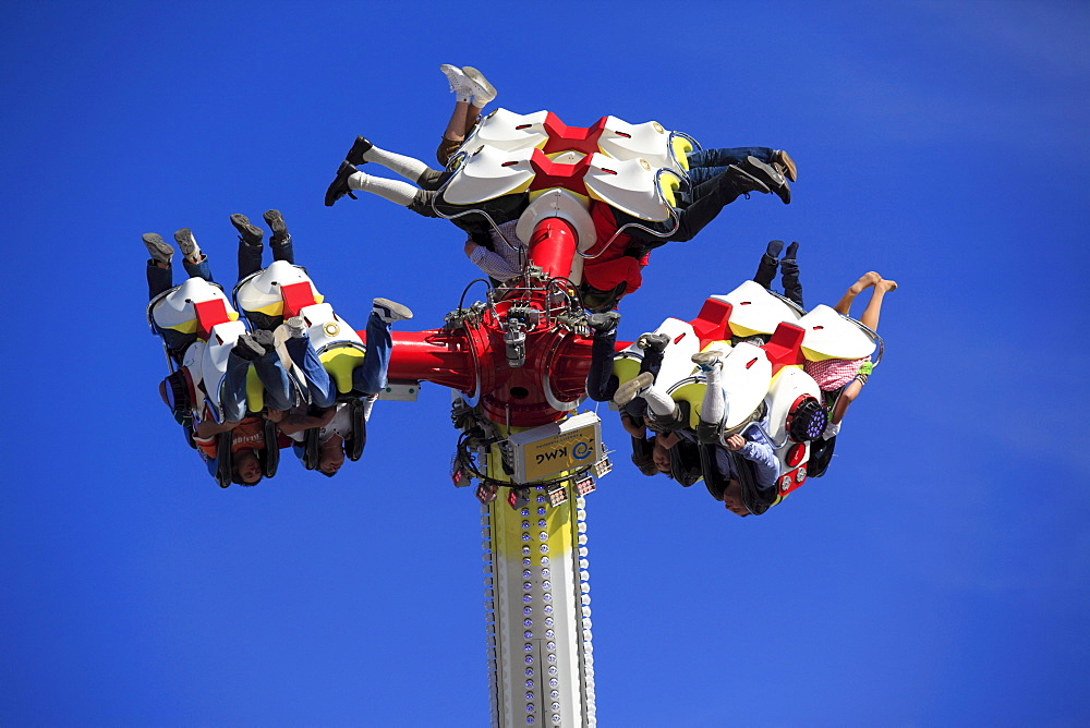 Flip Fly amusement ride at the Oktoberfest, Munich Beer Festival, Munich, Bavaria, Germany, Europe - 832-119714