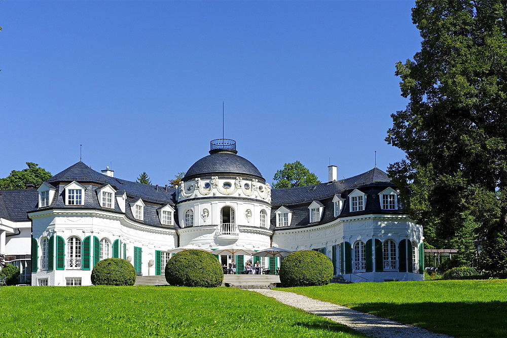 Villa de Osa mansion, built in 1909 by Ernst Haiger for Augusta de Osa, Kempfenhausen on Lake Starnberg, Upper Bavaria, Bavaria, Germany, Europe
